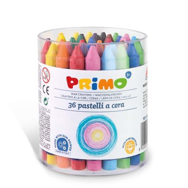 Voskové pastelky PRIMO, 10,5 x 84mm, 36ks, mix barev