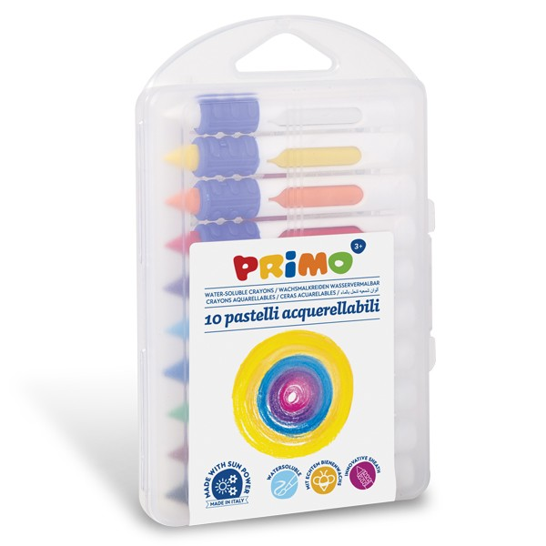 Voskové pastelky PRIMO, akvarelové, 9 x 80 mm, 10 ks