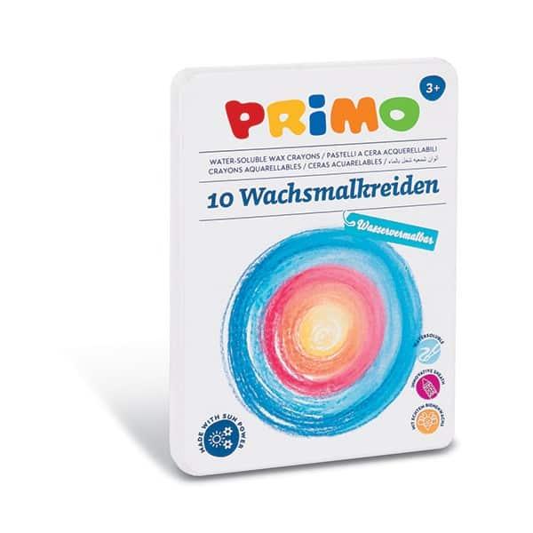 Voskové pastelky PRIMO, akvarelové, 9 x 80 mm, vysouvací, 10 ks