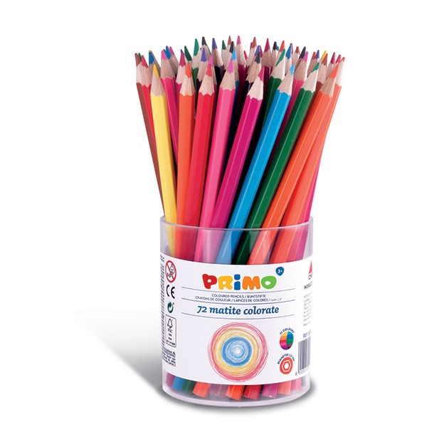 Pastelky barevné PRIMO, tuha 2,9mm, 72ks, PP etue