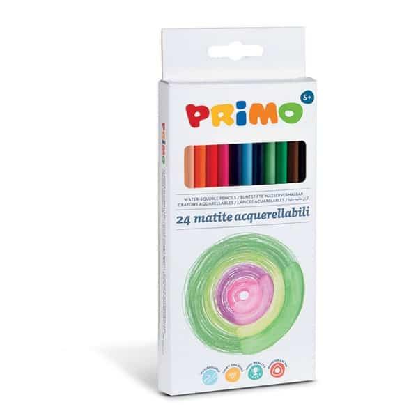 Pastelky PRIMO trojboké akvarelové, tuha 2,9mm, 24ks