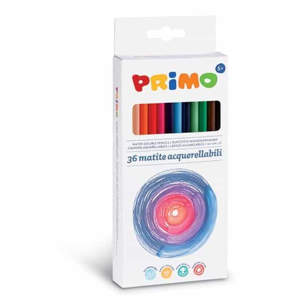 Pastelky PRIMO trojboké akvarelové, tuha 2,9mm, 36ks