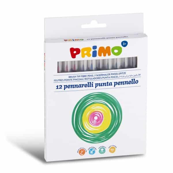 Fixy PRIMO, štetečkový hrot, 12ks, papírový obal
