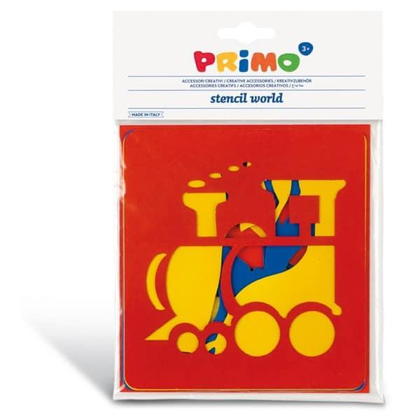 Sada plastových šablon PRIMO, 6ks, motiv DOPRAVA