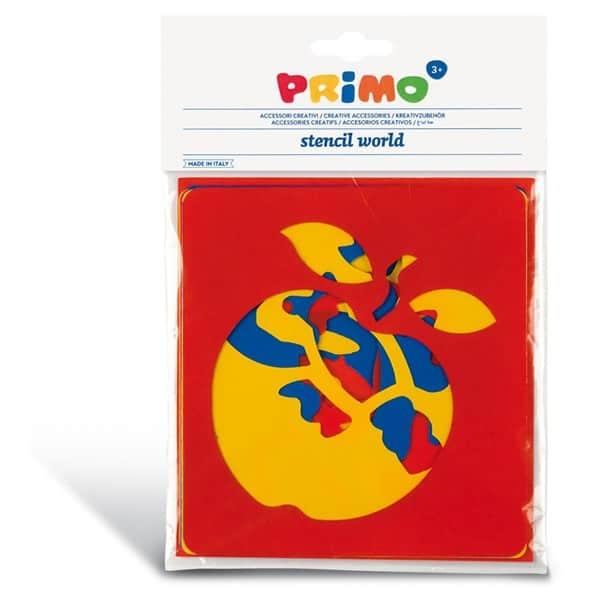 Sada plastových šablon PRIMO, 6ks, motiv OVOCE