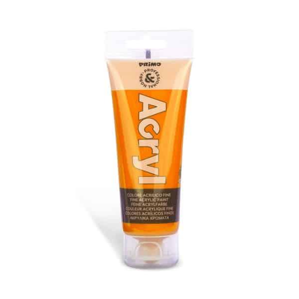 Akrylová barva PRIMO, tuba 75 ml, oranžová (č. barvy 250)