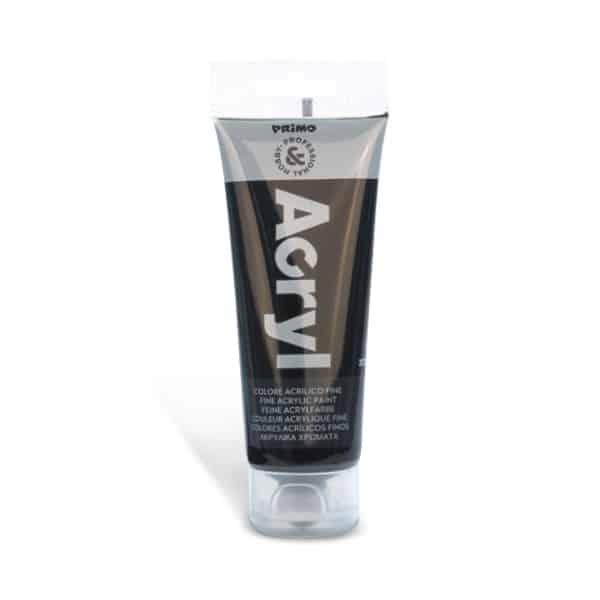 Akrylová barva PRIMO, tuba 75 ml, černá (č. barvy 800)
