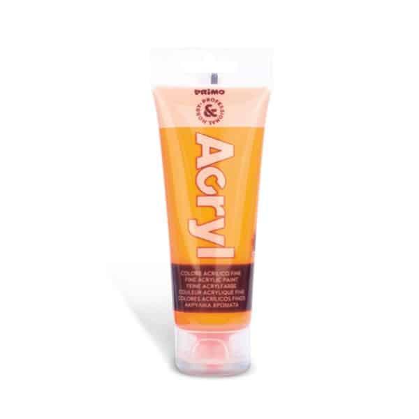 Akrylová barva PRIMO FLUO, tuba 75 ml, oranžová (č. barvy 250)