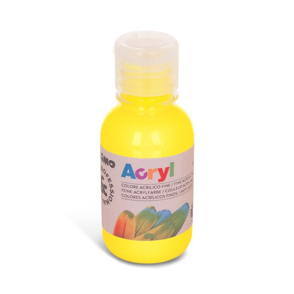 Akrylová barva PRIMO 125 ml, žlutá (č. barvy 201)
