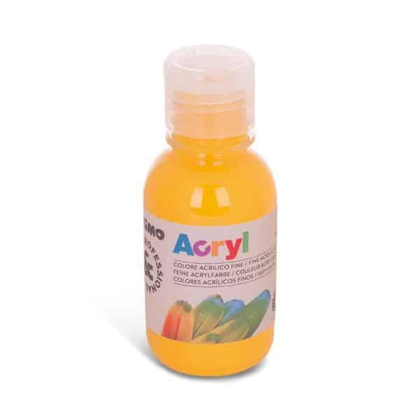 Akrylová barva PRIMO 125 ml, střední žlutá (č. barvy 220)