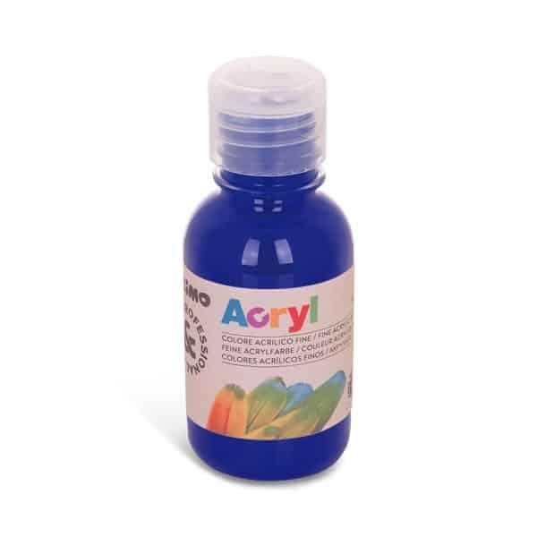 Akrylová barva PRIMO 125 ml, tm. modrá (č. barvy 521)