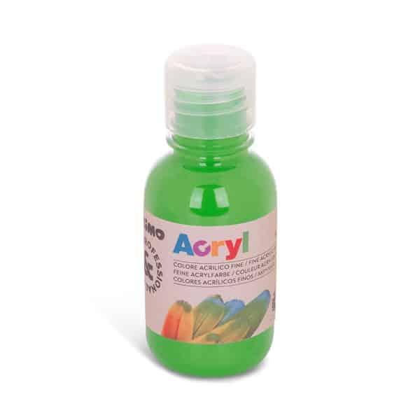 Akrylová barva PRIMO 125 ml, sv. zelená - limetková (č. barvy 600)