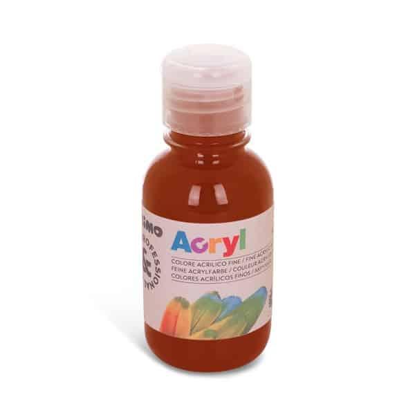Akrylová barva PRIMO 125 ml, hnědá siena pálená (č. barvy 730)