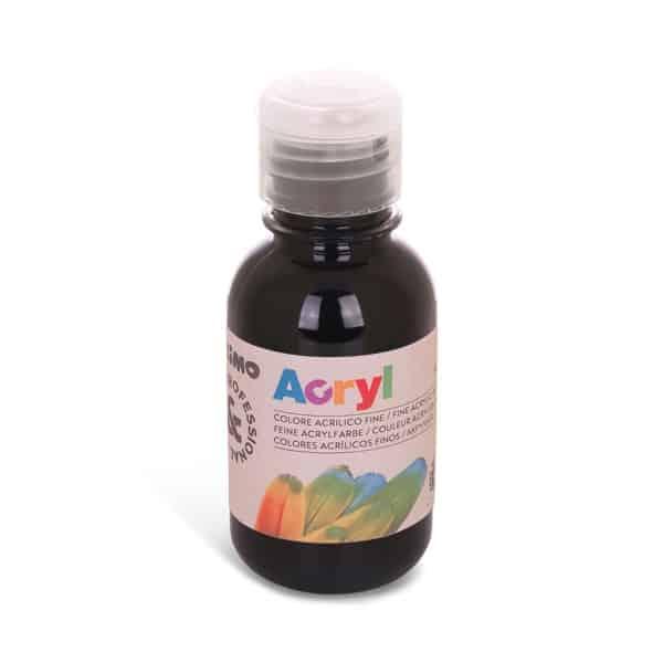 Akrylová barva PRIMO 125 ml, černá (č. barvy 800)