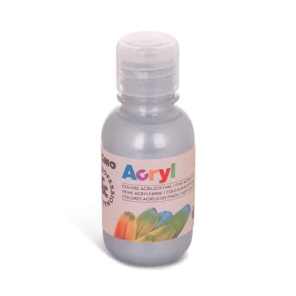 Akrylová barva PRIMO 125 ml, stříbrná (č. barvy 910)