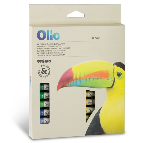 Olejové křídy PRIMO, akvarelové, 10 x 60 mm, 24 ks