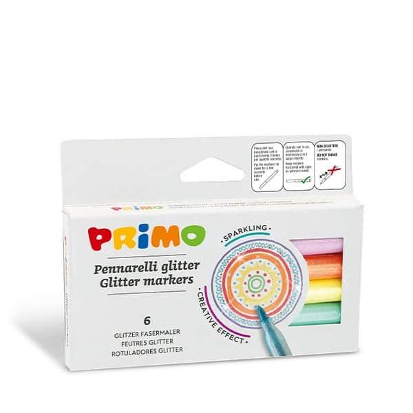 PRIMO Fixy METALICKÉ, hrot 2mm, 6ks v papírové krabičce