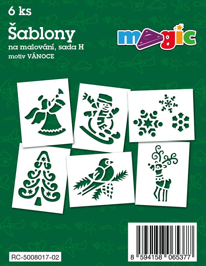 Papírové šablony MAGIC sada H - Vánoce (kód 8017)